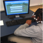 A student is intrigued by GoAnimate for Schools.