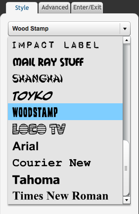 New Text Properties Panel